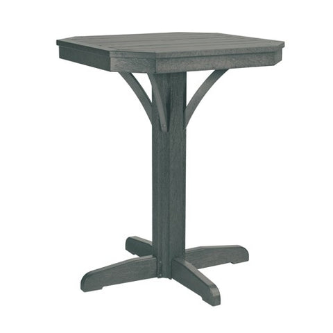 "T36 28"" SQUARE COUNTER PEDESTAL - ST. TROPEZ SLATE GRAY 18"