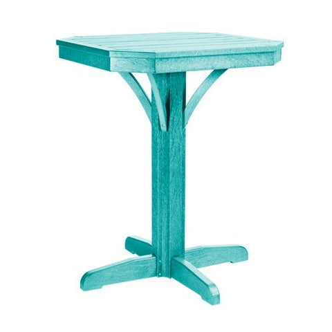 "T36 28"" SQUARE COUNTER PEDESTAL - ST. TROPEZ TURQUOISE 09"