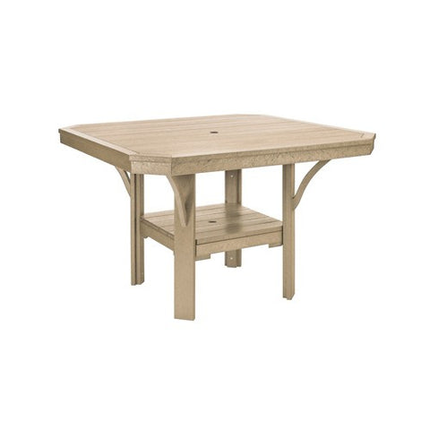 "T35 45"" SQUARE DINING TABLE - ST. TROPEZ BEIGE 07"