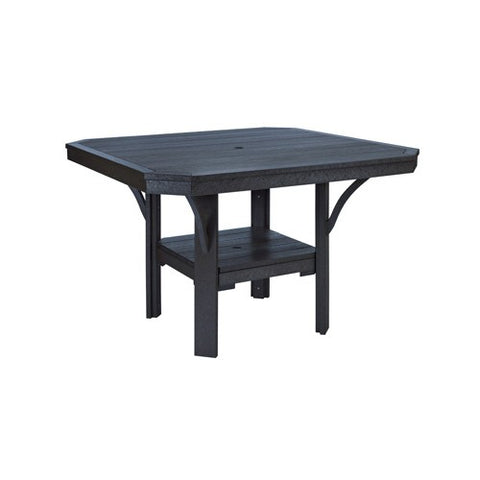 "T35 45"" SQUARE DINING TABLE - ST. TROPEZ BLACK 14"