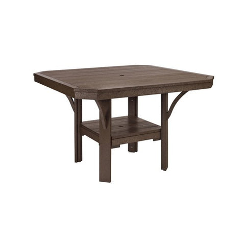 "T35 45"" SQUARE DINING TABLE - ST. TROPEZ CHOCOLATE 16"