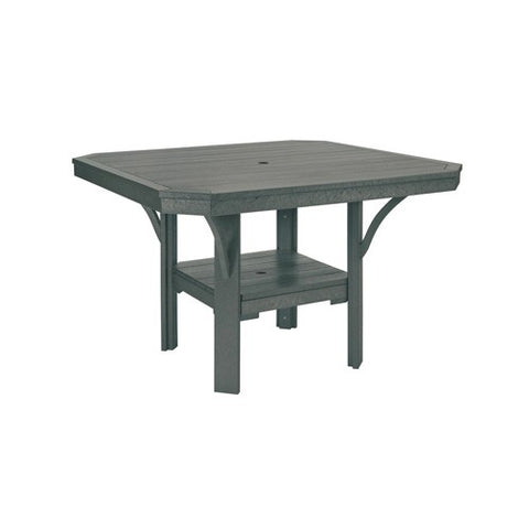 "T35 45"" SQUARE DINING TABLE - ST. TROPEZ SLATE GRAY 18"