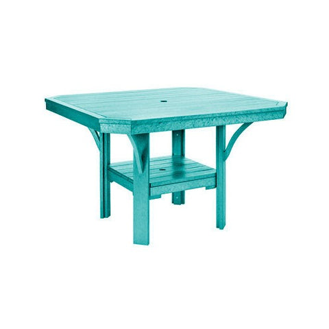 "T35 45"" SQUARE DINING TABLE - ST. TROPEZ TURQUOISE 09"