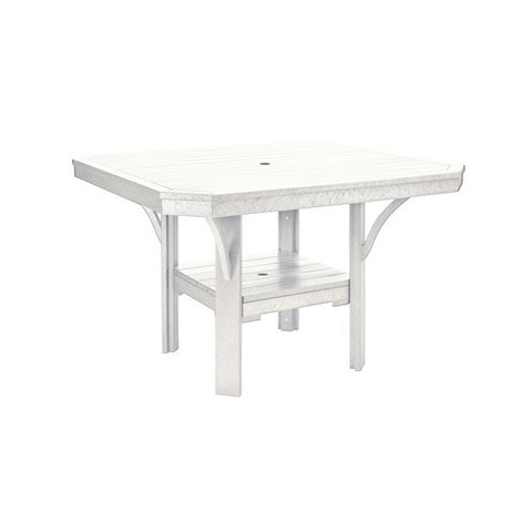 "T35 45"" SQUARE DINING TABLE - ST. TROPEZ WHITE 02"