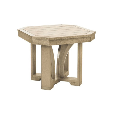 "T31 24"" SQUARE END TABLE ST TROPEZ BEIGE 07"