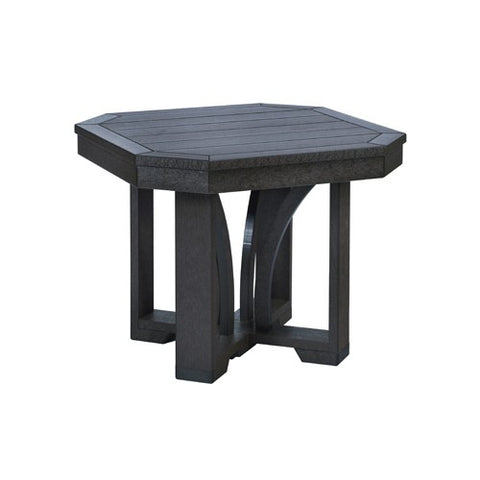 "T31 24"" SQUARE END TABLE ST TROPEZ BLACK 14"