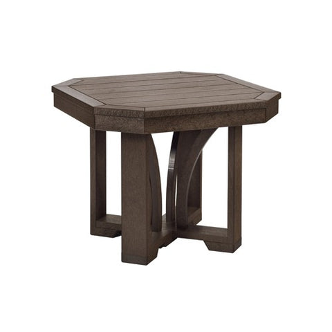 "T31 24"" SQUARE END TABLE ST TROPEZ CHOCOLATE 16"