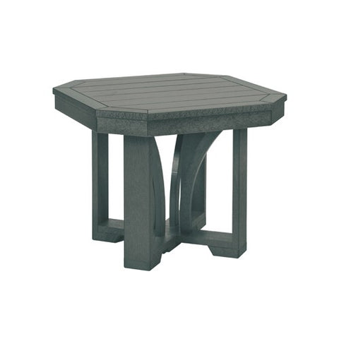 "T31 24"" SQUARE END TABLE ST TROPEZ SLATE GRAY 18"
