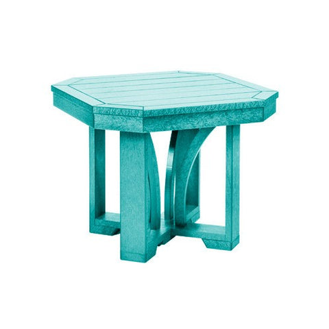 "T31 24"" SQUARE END TABLE ST TROPEZ TURQUOISE 09"