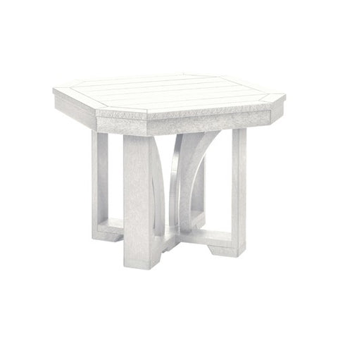 "T31 24"" SQUARE END TABLE ST TROPEZ WHITE 02"
