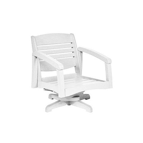 CR PLASTICS DSF164 SWIVEL ARM CHAIR FRAME WHITE