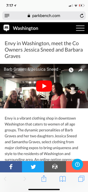 Check out the interview Leisa did with us on Envy!