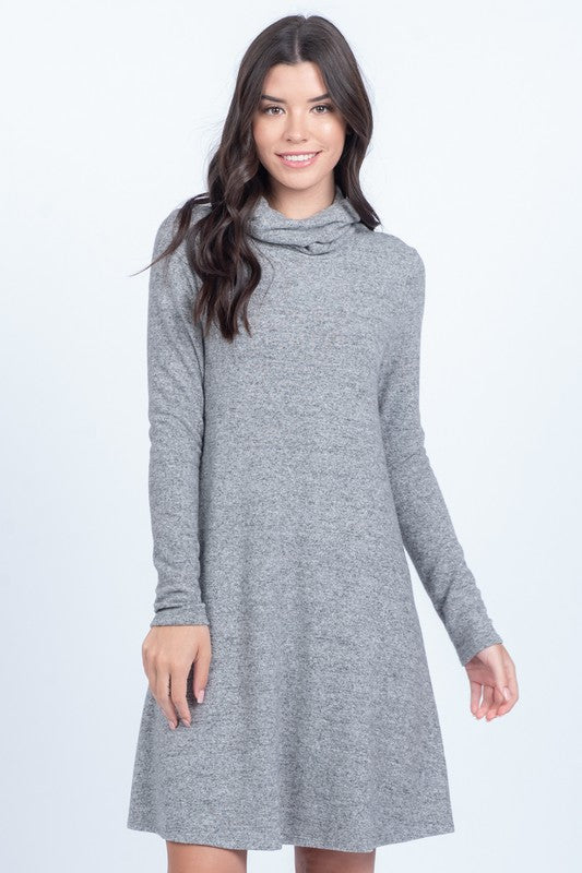 Turtleneck Grey Dress