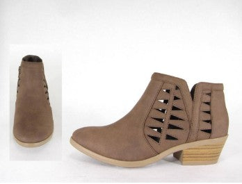 Taupe faux suede bootie