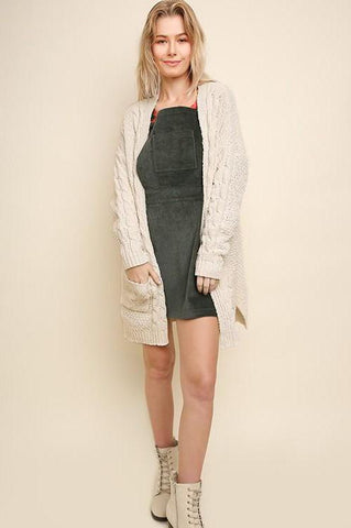 Chenille Cable Knit Cardigan