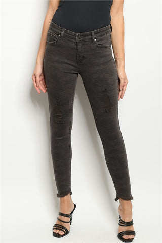 Charcoal Camo Jeans