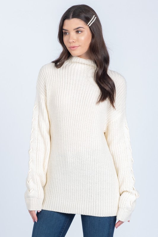 Cream Mockneck Sweater