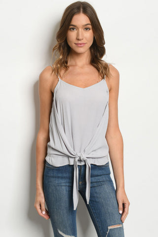 Gray Tank with Tie