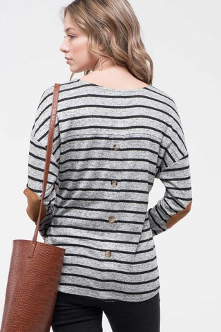 Back Button & Elbow Patch top
