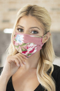 Mauve Pleated Reusable Mask