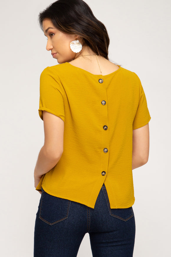 Mustard Crop w/Back Buttons