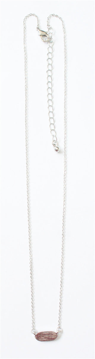 Silver Necklace with Silver Circle Accent