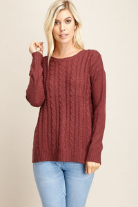 Red Bean Cable knit