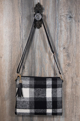 Plaid Crossbody/Clutch Bag