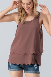 Eggplant Scalloped Top