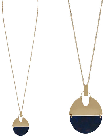 Gold and Navy half moon