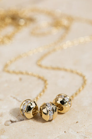Pave Crystal Charm Necklace