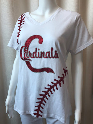White Baseball Cardinal top