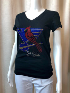 Bling Cardinals/Blues Top