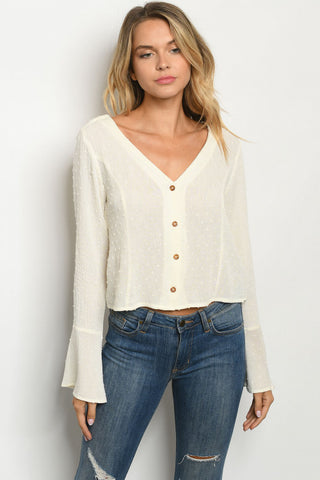 Ivory Bell Sleeve