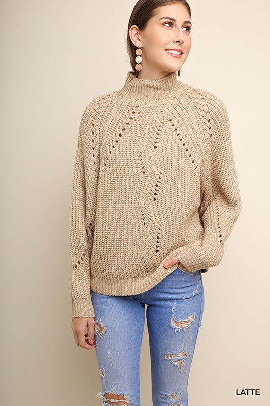 Mock Neck Knit Sweater