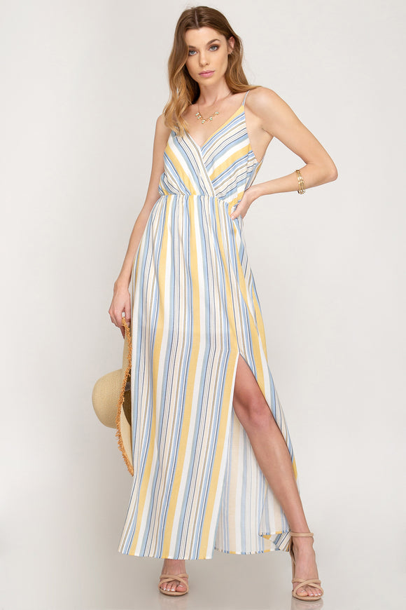 Striped Maxi with slit