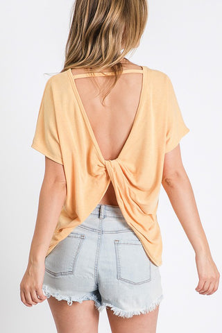 Twist Open Back Top