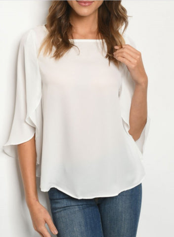 Elegant Off White Top