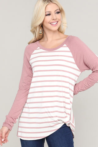 Striped and Solid back Knit