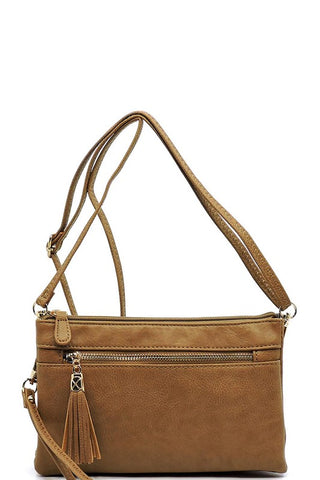 Fashion Double Compartment Cross Body Bag