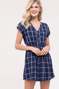 Plaid Button Down Dress