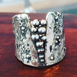 Handcrafted Silver Split Ring