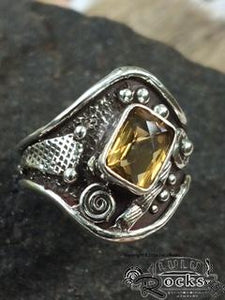 Handcrafted Citrine Silver Ring