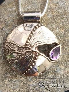 Handcrafted Silver and Amethyst Pendant