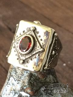 Handcrafted Garnet and Silver Ring