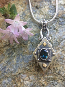 Handcrafted Silver Pendant with London Blue Topaz