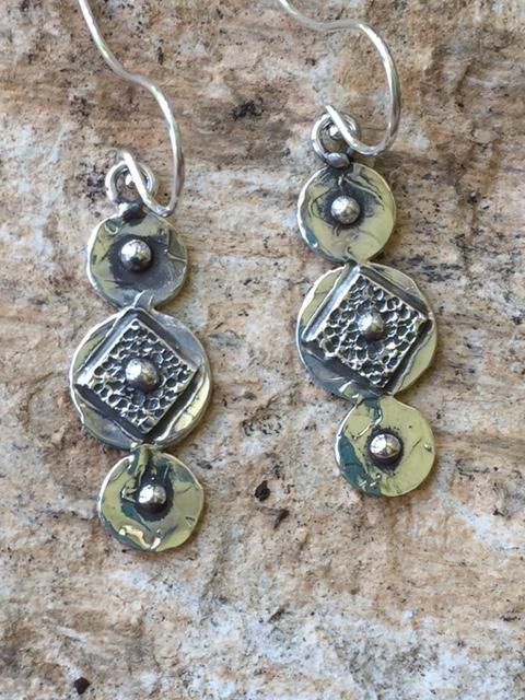 Handcrafted Silver Dangle Earings