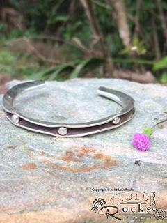Handcrafted Silver Channel Bracelet