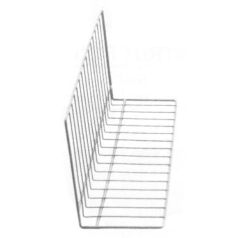 "Vinyl Coated Wire Display Divider, 12""x 8""x 24"", White"