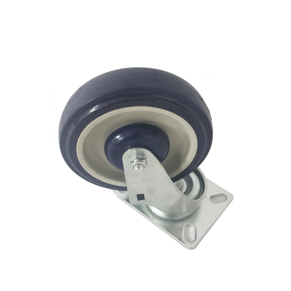 "1420 Medium Duty Plate Caster, 5"" Swivel"